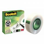 Scotch Magic 810 Cinta adhesiva invisible, 19 mm. x 33 m. Caja individual - FT510030669