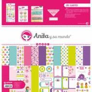 GRAFOPLAS 37080603. Kit bolsa Scrapbooking colección De cuento de Anita y su mundo