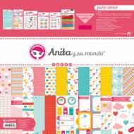 GRAFOPLAS 37080733. Kit maletín Scrapbooking colección Puro Amor de Anita y su mundo