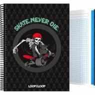 GRAFOPLÁS 16501981. Cuaderno tapa dura A4, 100 hojas, Loop the Loop Skate