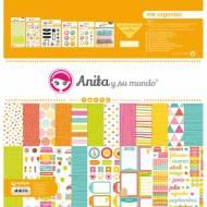 GRAFOPLAS 37080734. Kit maletín Scrapbooking colección Me organizo de Anita y su mundo