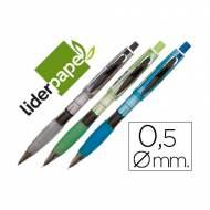 Liderpapel MI09 Portaminas 0.5 mm con goma. Colores surtidos.