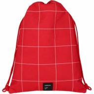 GRAFOPLAS 37610751. Mochila saco con cuerdas Unequal Grid rojo