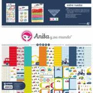 GRAFOPLAS 37080604. Kit bolsa Scrapbooking colección Sobre ruedas de Anita y su mundo