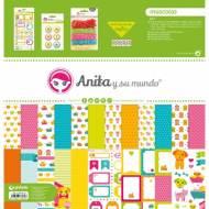 GRAFOPLAS 37080605. Kit bolsa Scrapbooking colección Mascotas de Anita y su mundo