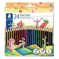 STAEDTLER 185 C24. Estuche de 24 lápices de colores Noris colour. Colores surtidos