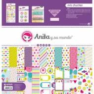 GRAFOPLAS 37080606. Kit bolsa Scrapbooking colección Mis chuches de Anita y su mundo