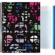 GRAFOPLÁS 16501983. Cuaderno tapa dura A4, 100 hojas, Loop the Loop Skulls