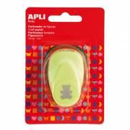 APLI 13631. Perforadora de papel figura Oso (16 mm.)