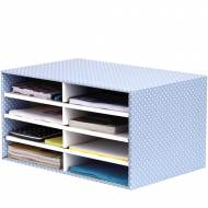 Fellowes 4482501. Módulo de Archivo de sobremesa azul/blanco