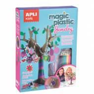 APLI 15261. Kit manualidades Plástico mágico Joyas