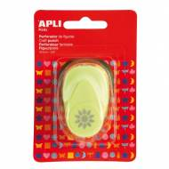 APLI 13633. Perforadora de papel figura Sol (16 mm.)