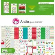 GRAFOPLAS 37080609. Kit bolsa Scrapbooking colección Feliz Navidad de Anita y su mundo