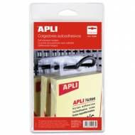 APLI 10586. Colgadores autoadhesivos de plástico (34 x 48 mm.)