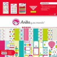 GRAFOPLAS 37080627. Kit bolsa Scrapbooking colección Aventura de Anita y su mundo