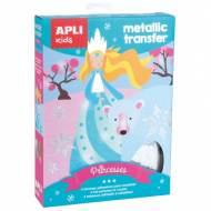 APLI 15267. Kit manualidades Metallic Transfer Princesas