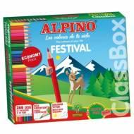 ALPINO C0131992. Estuche formato escolar con 288 lápices de colores surtidos