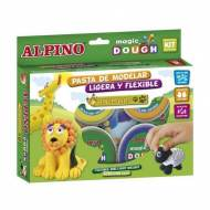 ALPINO DP000139. Pasta blanda Magic Dough. 6 ud de 40 gr. Colores surtidos