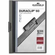 DURABLE Dossiers con clip Duraclip. Capacidad 60 hojas A4 Gris - 795995