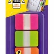 POST-IT Indices Adhesivos rígidos medianos (25.4x38mm). Colores rosa, verde y naranja - XA004806304