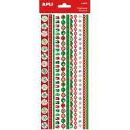 APLI 14971. 5 hojas pegatinas decorativas en cenefa (Navidad)