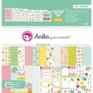 GRAFOPLAS 37080738. Kit maletín Scrapbooking colección Mis recetas de Anita y su mundo