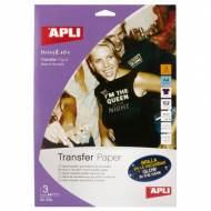 APLI 10248. Papel transfer brilla en la oscuridad (3 hojas)