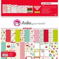 GRAFOPLAS 37080739. Kit maletín Scrapbooking colección En Navidad de Anita y su mundo