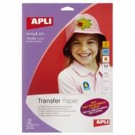 APLI 10955. Papel transfer todo tipo de tejidos (2 hojas)