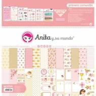 GRAFOPLAS 37080741. Kit maletín Scrapbooking colección Primera Comunión Niña de Anita y su mundo