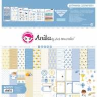 GRAFOPLAS 37080742. Kit maletín Scrapbooking colección Primera Comunión Niño de Anita y su mundo