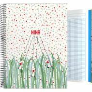 GRAFOPLÁS 16502616. Cuaderno tapa dura A4, 100 hojas, Nina Nature
