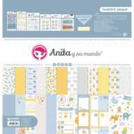 GRAFOPLAS 37080745. Kit maletín Scrapbooking colección Nuestro peque de Anita y su mundo