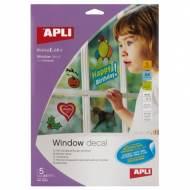 APLI 10323. Film transparente ventanas (5 hojas)