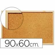 Q-CONNECT KF03567 Tablero de corcho con marco de madera. 90 x 60 cm.