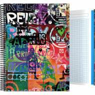 GRAFOPLÁS 16502618. Cuaderno tapa dura A4, 100 hojas, Diverse Relax
