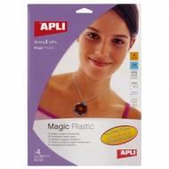 APLI 10331. Plastico magico transparente (4 hojas)