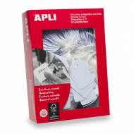 APLI 00391. Etiquetas colgantes blancas 500 uds. (28 x 43 mm.)