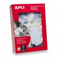 APLI 00392. Etiquetas colgantes blancas 500 uds. (36 x 53 mm.)