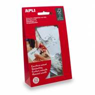 APLI 07012. Etiquetas colgantes blancas 100 uds. (28 x 43 mm.)