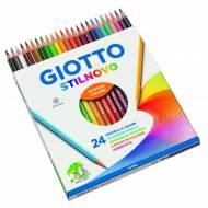 GIOTTO Stilnovo. Estuche de 24 lápices de colores surtidos - 256600