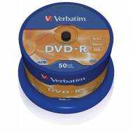 VERBATIM DVD-R 16x Advanced AZO 4,7GB Spindle 50 uds - 43548