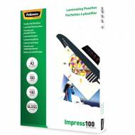 Fellowes 5351205. Pack 100 Fundas Plastificar 100 micras Brillo A3