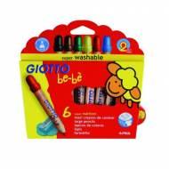 GIOTTO Be-Bè. Estuche de 6 súper lápices de colores surtidos - 466400