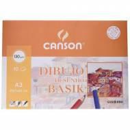GUARRO CANSON Minipack de 10 hojas de dibujo Basik A3, 130 gr. -  200403159