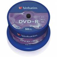 VERBATIM DVD+R 16x Advanced AZO 4,7GB Spindle 50 uds - 43550