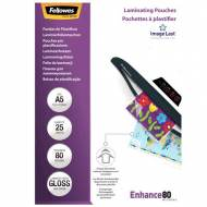 Fellowes 5396003. Pack 25 Fundas Plastificar 80 micras Brillo A5