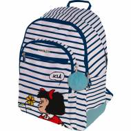 GRAFOPLAS 37500156. Mochila escolar Rubber Mafalda Marinera