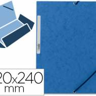 Q-Connect KF02167. Carpeta azul gomas y solapas carton simil-prespan 320x243 mm.