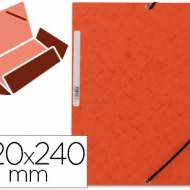 Q-Connect KF02170. Carpeta naranja gomas y solapas carton simil-prespan 320x243 mm.